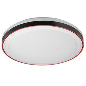 Светильник с ПДУ 1623/1RD LED 72Вт 3000-6000К черно-красный 49х49х7 см