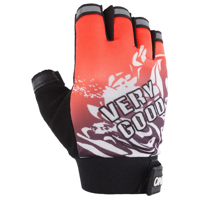 Перчатки спортивные, универсальные, цвет красный