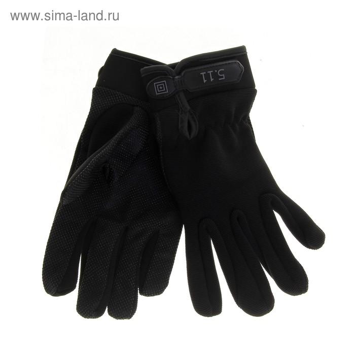 Перчатки спортивные, pазмер L, цвет чёрный