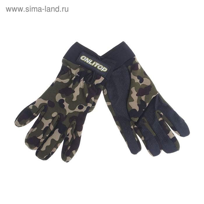 Перчатки спортивные, pазмер M, цвет хаки