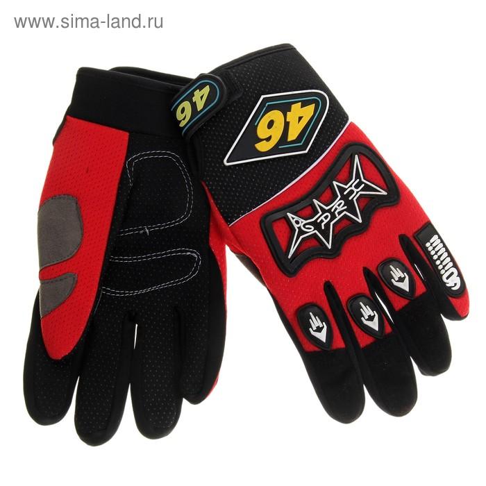 """Перчатки спортивные """"46"""", pазмер L, цвет чёрно-красный"""