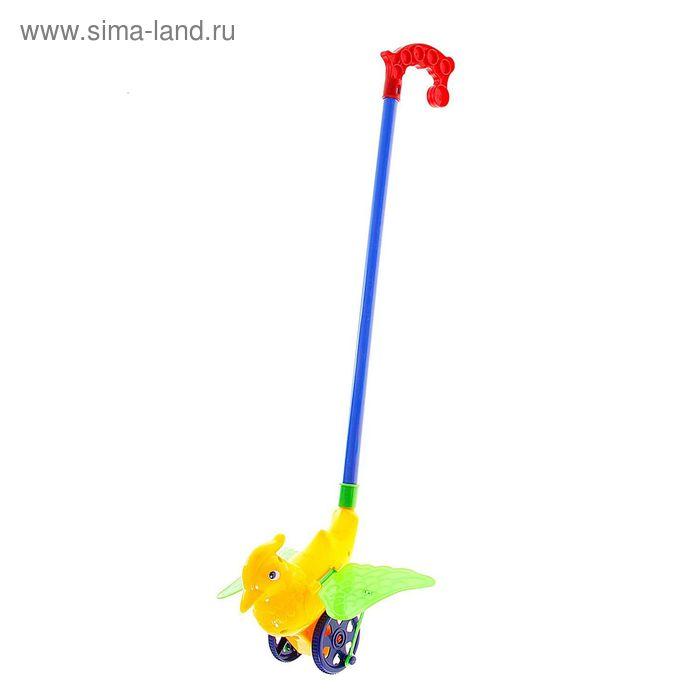 """Каталка на палочке """"Попугай"""", цвета МИКС"""