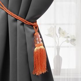 Кисть для штор «Три кристалла», 50 ± 1 см, цвет оранжевый/золотой