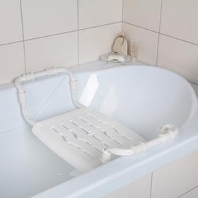 Сиденье для ванны раздвижное, цвет белый