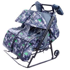 Санки-коляски «Близняшки. Ёлки на сером»
