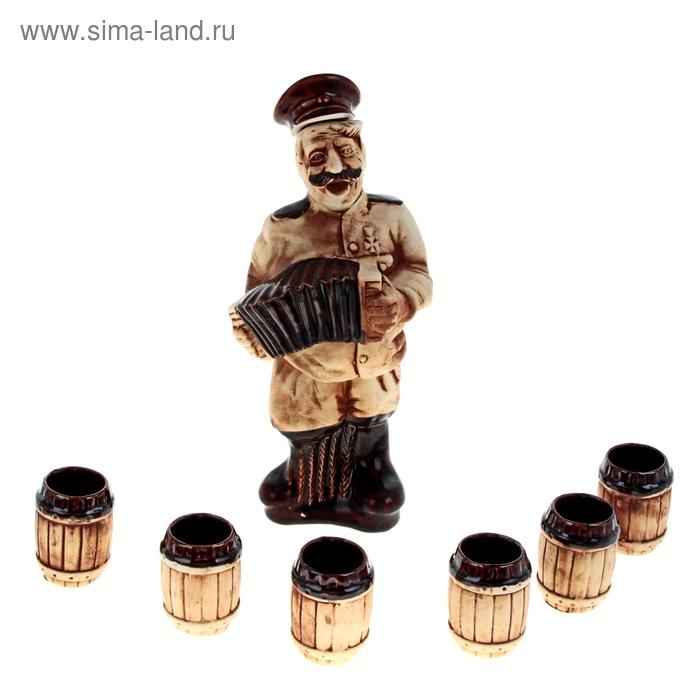 """Штоф с рюмками """"Гармонист"""", 7 предметов, 0,9 л"""