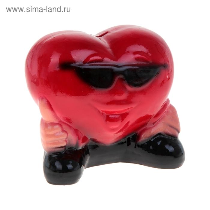 """Копилка """"Сердце в очках"""" большая"""