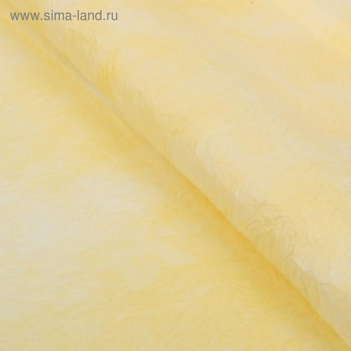 Бумага упаковочная двухсторонняя фактурная, цвет светло-жёлтый