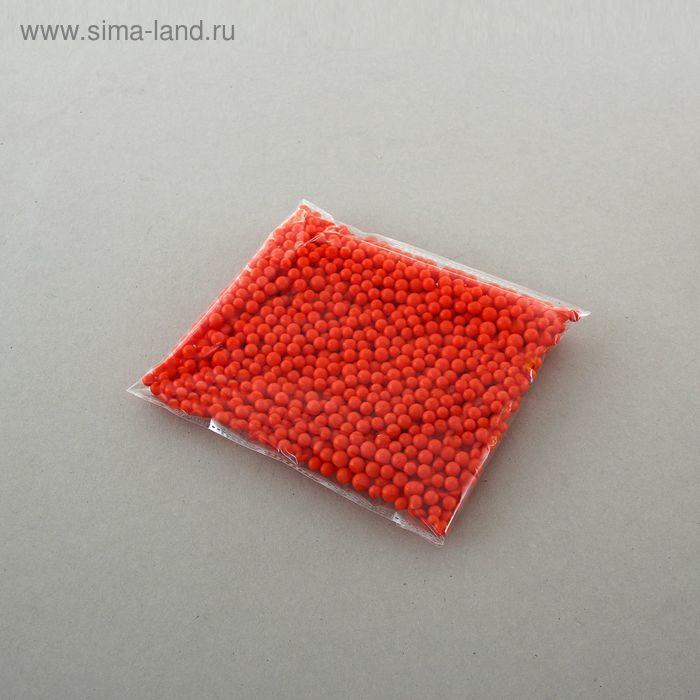 Наполнитель декоративный, шарики d=0,8 см, цвет красный