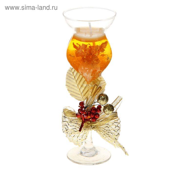 """Свеча гелевая """"Изысканность"""", цвет золото"""