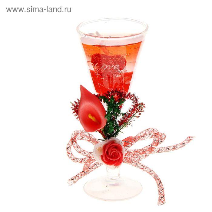 """Свеча гелевая """"Признание в любви"""", цвет красный"""