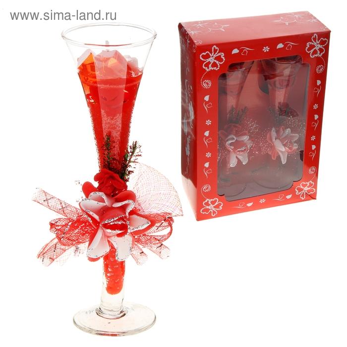 """Свечи гелевые (набор 2 шт) """"Влечение"""", цвет красный"""
