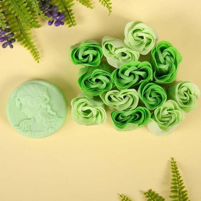 """Набор подарочный """"Камея"""": мыльные лепестки, мыло сувенирное 60 гр, аромат алое"""