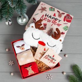 Подарочный набор KAFTAN Happy Year носки р, 36-39 (23-25 см), маска