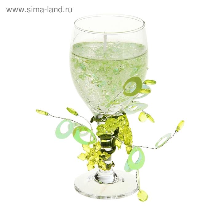 """Свеча гелевая """"Игривый завиток"""", цвет зеленый"""
