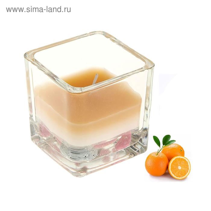 """Свеча восковая+гелевая """"Свежесть"""", аромат апельсин"""