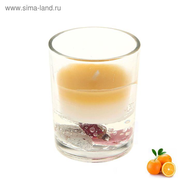 """Свеча восковая+гелевая (набор 2 шт) """"Шот"""", аромат апельсин"""