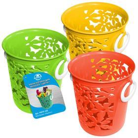 Мини-корзина для мелочей «Цветы», круг d 10 см, h 11,5 см, МИКС