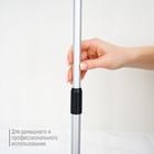 Окномойка, телескопическая алюминиевая ручка 60-97 см, рабочая поверхность 20 см, цвет чёрный - фото 1716908