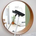 Окномойка, телескопическая алюминиевая ручка 60-97 см, рабочая поверхность 20 см, цвет чёрный - фото 1716910