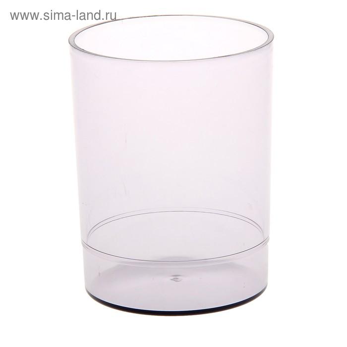 """Подставка-стакан для пишущих принадлежностей """"Офис"""", тонированный, серый"""