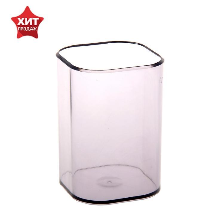 """Подставка-стакан для пишущих принадлежностей """"Визит"""", тонированный серый"""