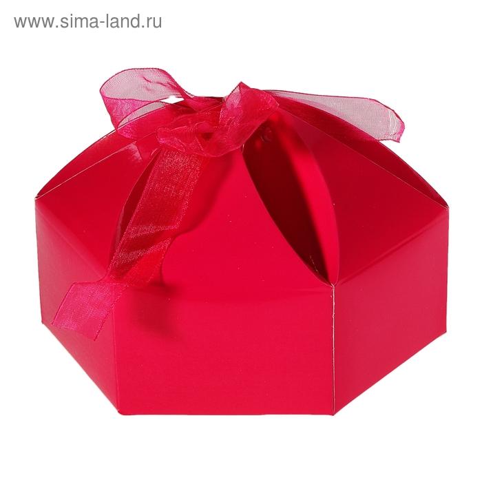 """Коробка сборная """"Мешочек счастья"""", цвет малиновый"""