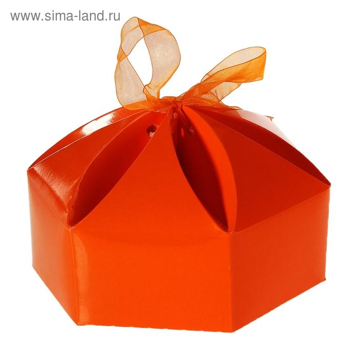 """Коробка сборная """"Мешочек счастья"""", цвет оранжевый"""