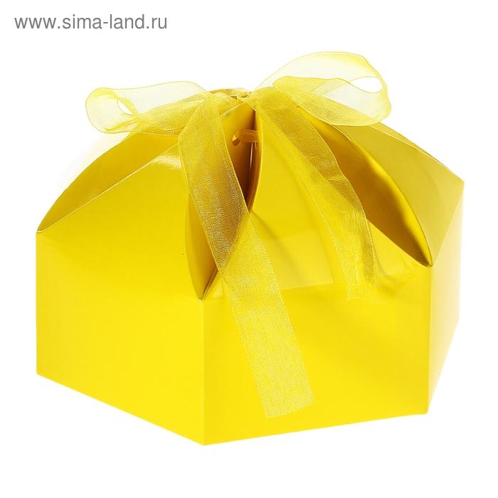"""Коробка сборная """"Мешочек счастья"""", цвет жёлтый"""