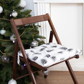 "Сидушка на стул ""Этель"" Merry Christmas 42х42см, 100% хл, саржа 190  г/м2"