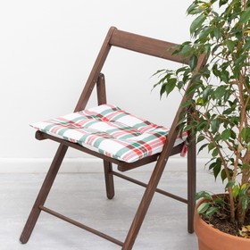 "Сидушка на стул ""Этель"" Нoliday decoration 42х42х7см, 100%хл, репс 210 г/м2"