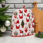 """Грелка на чайник Этель """"Santa Claus"""" 28х28см, 100%хл, репс 210 г/м2 - фото 800272310"""