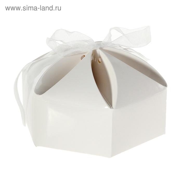 """Коробка сборная """"Мешочек счастья"""", цвет белый"""