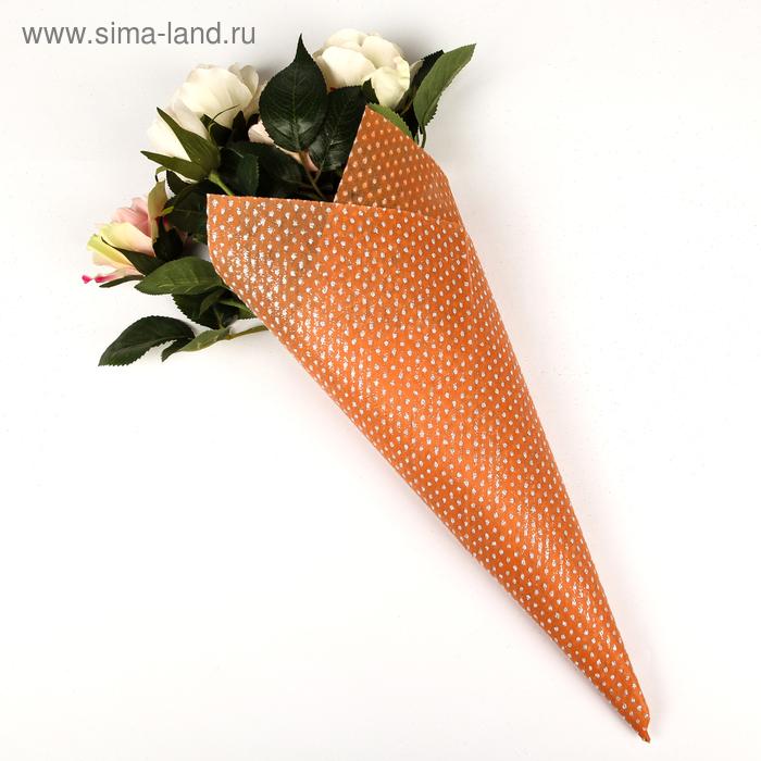 """Флизелин """"Серебряные крапинки"""", цвет оранжевый"""