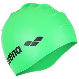 Шапочка для плавания ARENA Classic Silicone, 9166265, цвет зелёный, силикон