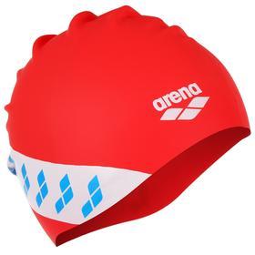 Шапочка для плавания ARENA Team Stripe Cap, 001463477, цвет красный, силикон