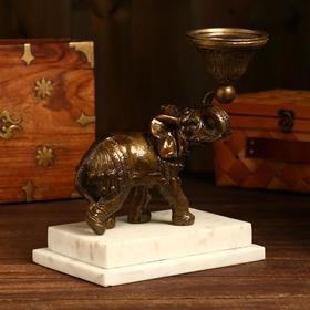 "Подсвечник ""Царский слон"" бронза 23х23х39 см"