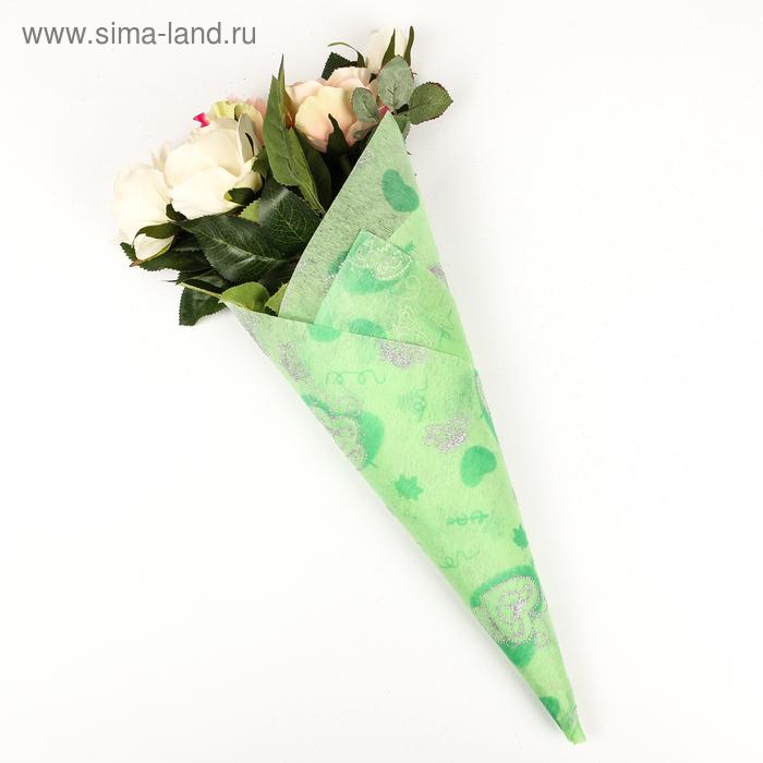 """Флизелин """"Крылья любви"""", цвет светло-зеленый"""