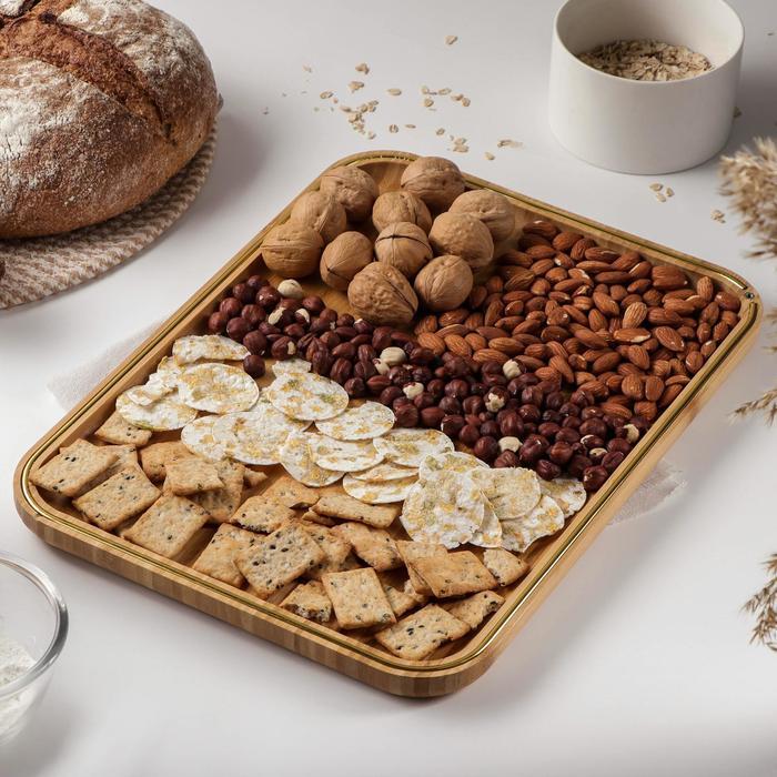 Блюдо для подачи Доляна «Цветение», 40×29 см, бамбук