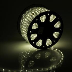LED шнур 11 мм, круглый, 92 м, фиксинг, 2W-LED/м-24-220V в компл. набор д/подкл, Т/БЕЛЫЙ