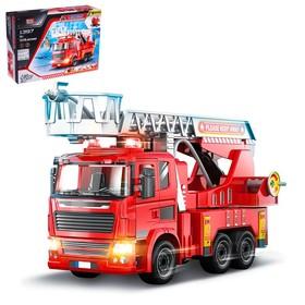Конструктор винтовой «Пожарная помощь», 105 деталей, световые и звуковые эффекты, стреляет водой