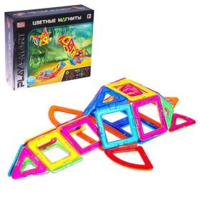Конструктор магнитный «Цветные магниты», 40 деталей