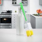 Ершик для посуды с губкой, цвет МИКС