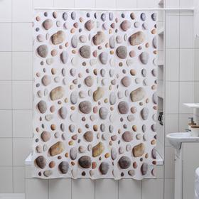 "Shower curtain 180×180 cm ""Pebble"", EVA"