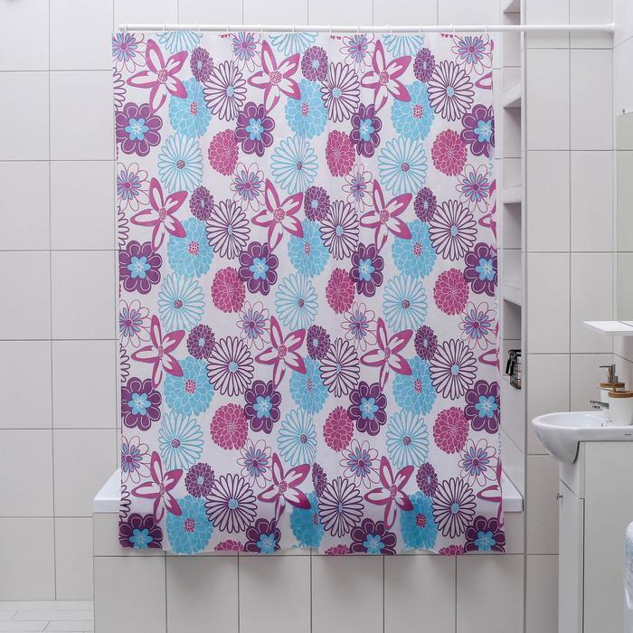 """Штора для ванной 180×180 см """"Цветные сны"""", EVA"""