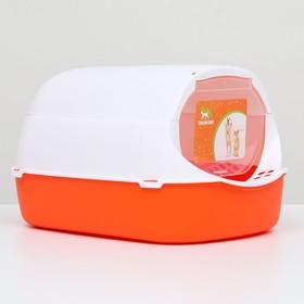 Туалет-домик с фильтром, 43 х 32 х 28 см, бело-красный