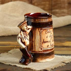 """Кружка для пива """"Моряк"""" 0,5 л, микс - фото 1398729"""