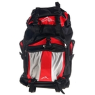 Рюкзак туристический Mountain 1 отдел, 4 наружных кармана, черно-красный