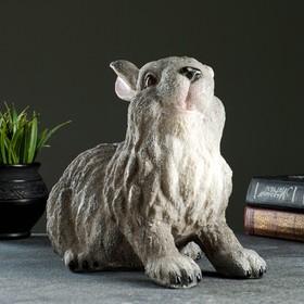 """Копилка """"Заяц сидячий"""" серый 21х14х25см"""