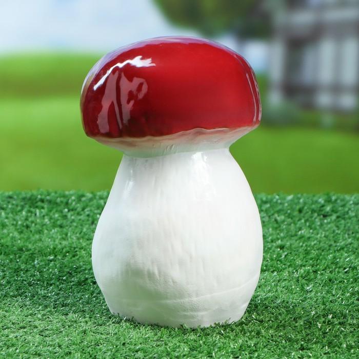 """Садовая фигура """"Гриб боровик"""", белый цвет, 17 см - фото 308932888"""